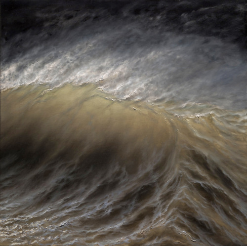 "crashinglybeautiful:  Ran Ortner, ""Swell No. 25,"" 2009. 48 x 48 in. Oil on panel."