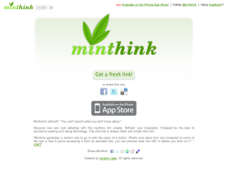 Minthink  Realtime link crawler. Service to discover new and cool websites.