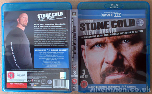 A few days earlier than I was expecting it, my copy of Steve Austin:The Most Popular Superstar Of All Time Blu-ray (3 Discs) has turned up, and the stock should be in for you guys any day now too. At 12 hours and 28 mins it's the longest WWE Blu-ray we've ever produced, beating out the WrestleMania 27 Blu-ray by over 3 hours!  Obviously I'm looking forward to watching the documentary but the matches look really good too. Can't wait to see Austin & Flair v Sting & Steamboat in upscaled HD splendour!  Epic is the word I'd use to describe this release, and a whole weekend is what I'll need to watch it all! What's your favourite ever Stone Cold Steve Austin match or moment?