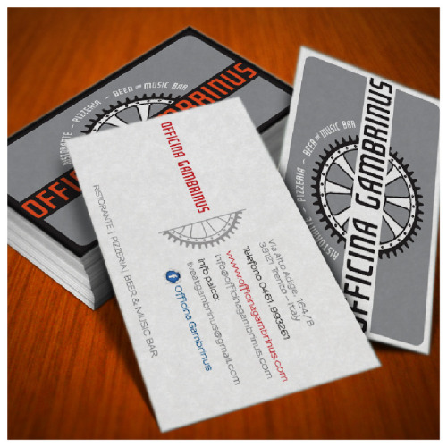 Business Card Business card design for a restaurant/disco pub in Trento (italy)