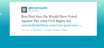 Ron Paul Would Have Voted Against The 1964 Civil Rights Act..  So would a lot of his supporters who are totally not racist. *Crickets*