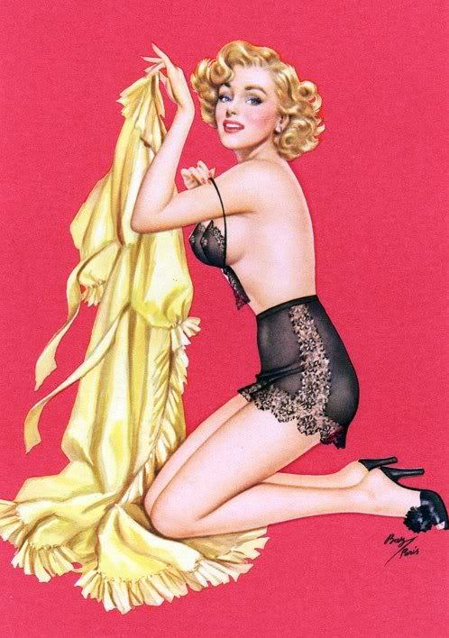 theniftyfifties:  1950s pinup art by Ben-Hur Baz.