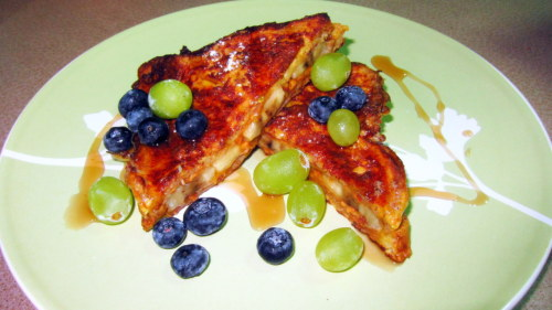 My version of Peanut Butter and Banana Stuffed French Toast