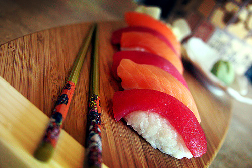 fattributes:  Tuna and salmon and rice, OH MY! (by gardner-photo)