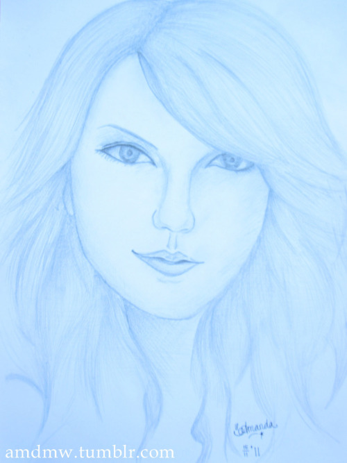 Taylor Swift. I took the picture using the camera with the 'Snow' Recording Mode. That's why the colour became icy :p Anyway, isn't it nice? :)