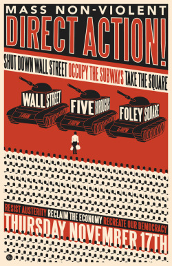 Poster: Direct Action! Shut Down Wall Street. 2011