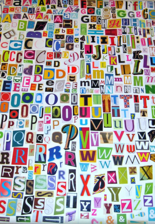 Print your own ransom notes