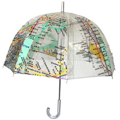 hopstop:  We're feeling this MTA New York Subway Map Bubble Umbrella. Perfect for these rainy days.