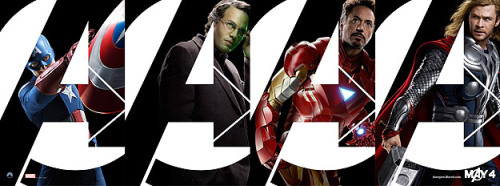 Avengers Assemble! New posters of earth's mightiest heroes went online today, adding to the hype over next summer's super-powered blockbuster. Chris Evans, Mark Ruffalo, Robert Downey Jr., Chris Hemsworth, Samuel L. Jackson, Tom Hiddelston, Jeremy Renner and Scarlett Johansson star in the film, which hits theaters May 4. What do you think? Can The Avengers break box office records? Surely it will be better than Green Lantern, right?