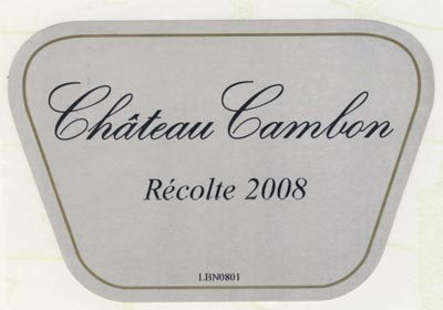 Wine Review: 2008 Chateau Cambon Beaujolais I'd like to share with you my favorite Beaujolais. Easy to drink and light, this bottle has a strong aroma of young, ripe cherries with a touch of freshly cut grass. I really enjoy this as a bottle to drink on its own.