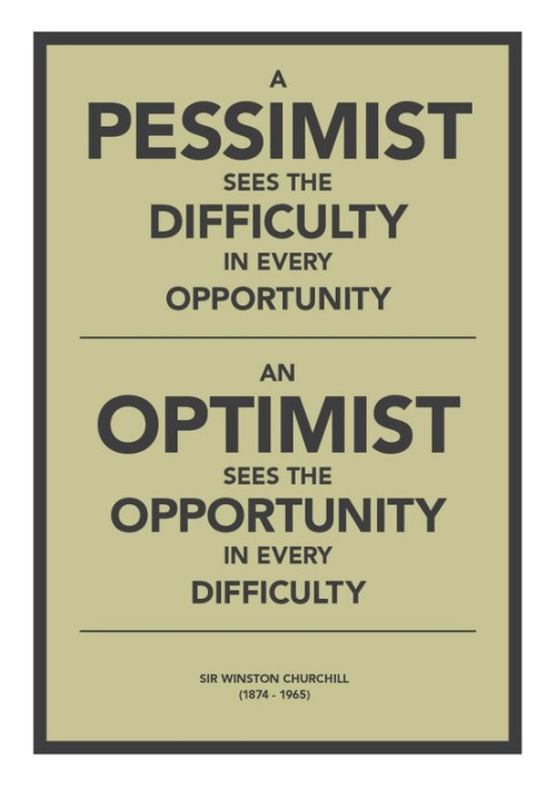 Pessimist vs Optimist by Winston Churchill