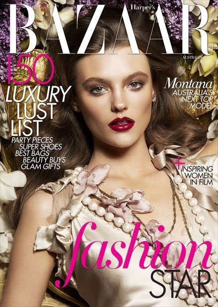 2011 winner of Australia's Next Top Model - Montana Cox! How stunning is her Harper's Bazaar cover!? I love it <3