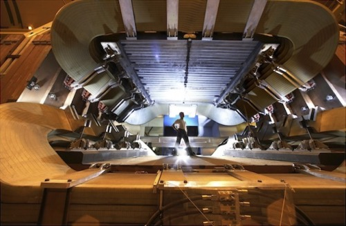 "LHC May Have Found Crack in Modern Physics  In late 2008, a few onlookers believed that the Large Hadron Collider (LHC) would bring the end of the world. Three years later, our planet remains intact, but the European particle smasher may have made its first crack in modern physics.  If this crack turns out to be real, it might help explain an enduring mystery of the universe: why there's lots of normal matter, but hardly any of the opposite—antimatter. ""If it holds up, it's exciting,"" says particle physicist Robert Roser of the Fermi National Accelerator Laboratory in Batavia, Illinois.  To understand why physicists are excited, look around: We're surrounded by stuff. That might seem obvious, but scientists have long wondered why there's anything at all. Accepted theories suggest that the big bang should have produced equal amounts of matter and antimatter, which would have soon annihilated each other. Clearly, the balance tipped in favor of normal matter, allowing the creation of everything we see today—but how, no one's sure.  More On: LHC May Have Found a Crack in Modern Physics"