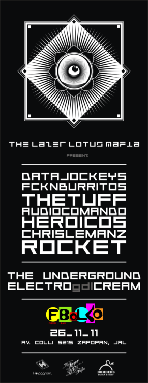 THE LAST OF THE YEAR!  LAZER LOTUS MAFIA PRESENTS - DATAJOCKEYS (dtjks) RDHS + NEUMAN K ó NEUMAN K + RHDS como parte de su COME BACK TOUR.- FCKN BURRITOS.- THE TUFF.- ROCKET.- CHRIS LEMANZ.- AUDIO COMANDO HEROICOS.  EVENTO TOTALMENTE GRATUITO FBOLKO