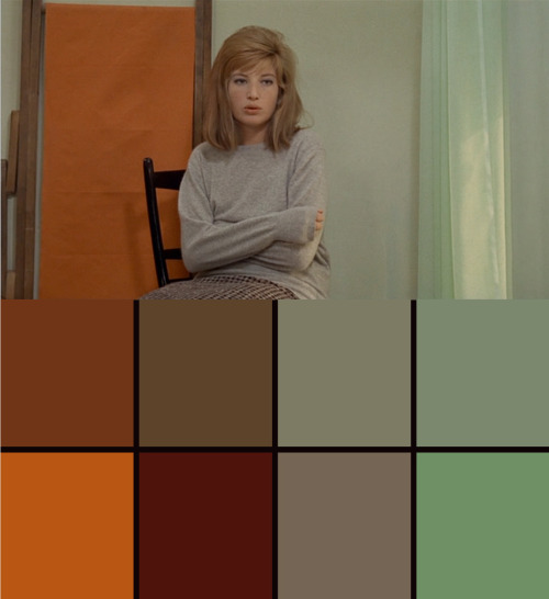 "filmcolours:  fairest:  from Red Desert. Antonioni once said of a Mark Rothko painting, ""It's painted anxiety.""  http://not-critical.com/2010/08/red-desert/"