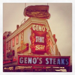 Philly Cheesesteak. #neonsign #neon #sign #signporn #typography #type  (Taken with instagram)