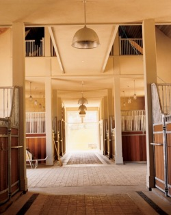 thatkindofwoman:  Martha Stewart's stables. Wood-paneled horse stalls at Cantitoe Farm, Bedford, New York. Photograph by Bruce Weber, August 2005.