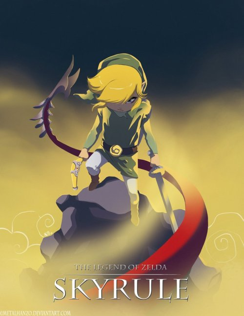 justinrampage:  When Elder Scrolls V: Skyrim and The Legend of Zelda: The Wind Waker become one game in Hanzo Steinbach's Skyrule mash up, all rules go directly out the window. I fully support this mixture of awesomesauce. Related Rampages: Skyward Sword | Bunny Link (More) Now THIS is a game i would love to play The Legend of Zelda - Skyrule by Hanzo Steinbach (Facebook) (Twitter) via: xombiedirge