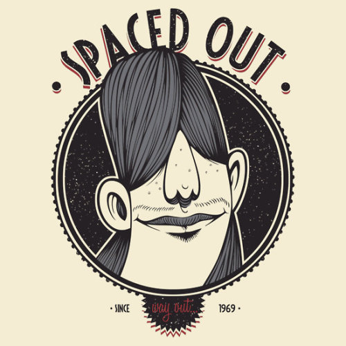 Spaced Out by Damian King.  Available as a t-shirt or hoodie here.