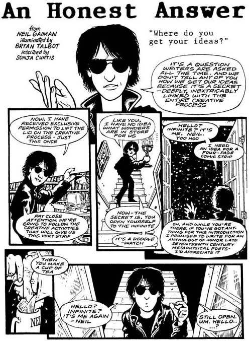 neil-gaiman:  A comic I did with Bryan Talbot, a long time ago… Read the rest of it here