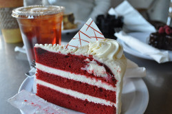 food dessert red velvet cake cream cheese frosting