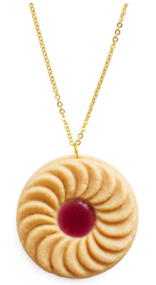 Bet you thought this was a Jammy Dodger, right? Well it's not, it's a necklace! But it's also a Jammy Dodger. But it's still a necklace. It's a Jammy Dodger and a necklace! Woot! Jammy Dodger Necklace: £8.00
