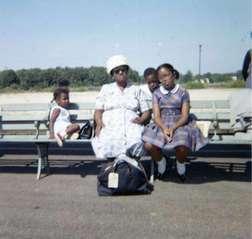 Patrice, Mama, Jr. & Denise Hampton Station, VA June 1962 [Howard Family Album] ©WaheedPhotoArchive, 2011