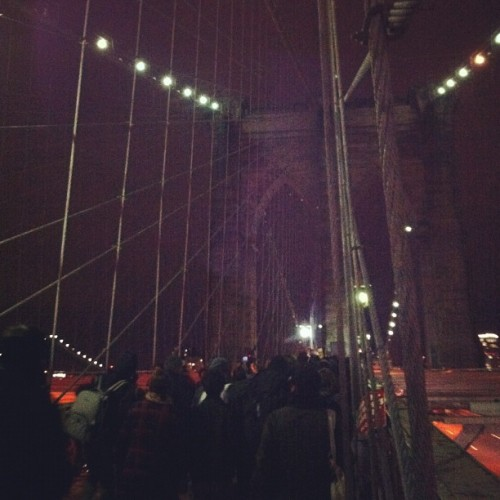 Thousands March on Brooklyn Bridge We fired up a live blog over at the Mother Jones mother ship. Heavy doses of @joshharkinson's Twitter feed, we promise. (Photo via blacksquirrel)