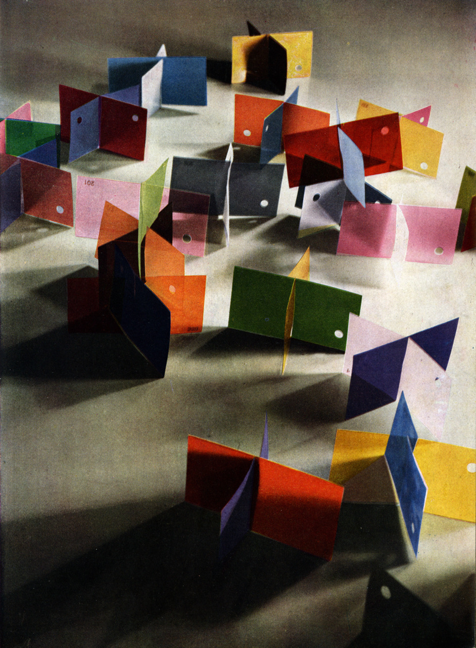 archiveofaffinities:  Lazlo Moholy-Nagy, Dufay Color Photograph, 1935