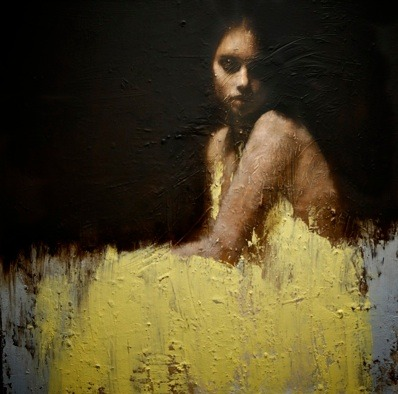 Mark Demsteader - Shallow Waters. (oil on canvas, 43 x 43)