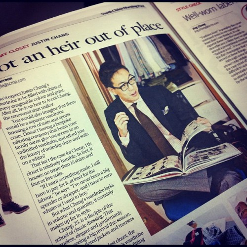 carmen-chan:  Oh, hi @justinchanghk in today's SCMP! Thanks for having me and @bluecarreon over :) (Taken with instagram)
