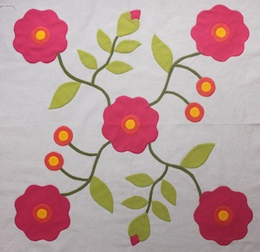 Pretty applique work.   (via A quilt in the making - Townmouse)