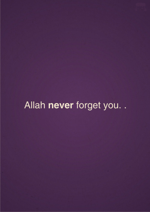 be sure ~> never forget you ')  not like people , They forget you soo fast 💔😔' !