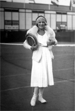 Suzanne Lenglen - one of the greatest  tennis players of all time. Between 1919 and 1926, she lost only one match. The first major tennis star to turn professional, Lenglen died of pernicious anaemia 4 July 1938 at the age 39.