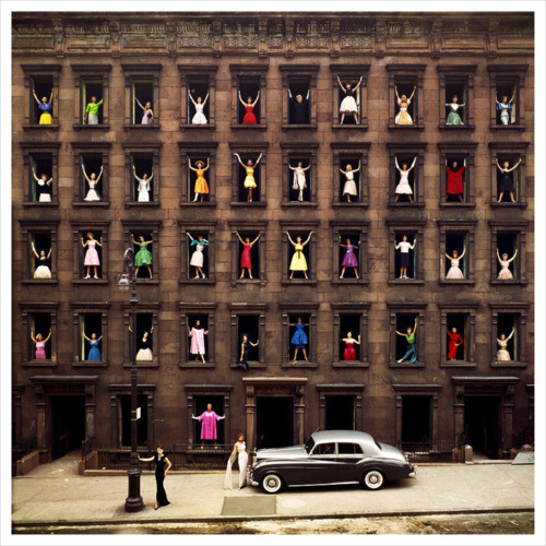 Girls in the Windows photographed by Ormond Gigli in 1960