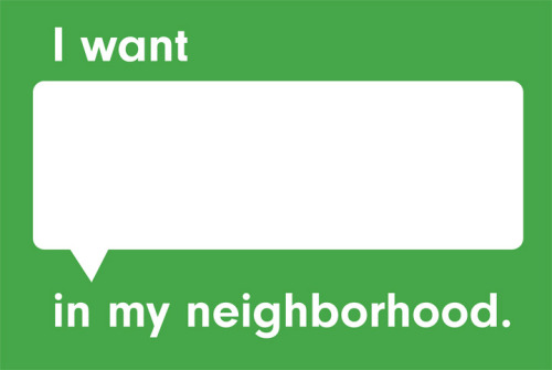 What if we could easily share ideas for what we want in our neighborhoods? This is the question that drove Candy Chang and her colleagues to make Neighborland, an online tool for people to shape the development of their neighborhoods. It takes her I Wish This Was public art project a few steps further to help people voice what they want in their neighborhoods and take next steps to make things happen. It connects residents who want things with likeminded people, initiatives, and resources. It's a valuable poll for civic leaders and developers to assess what residents want in different areas, vacant real estate, and existing public spaces. And it promotes entrepreneurship by revealing neighborhood demands and proving there is a viable customer base for new businesses to open. via jdbroderick: