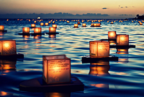 surferdude182:  Lantern Floating Ceremony (by Naomi Hayes)