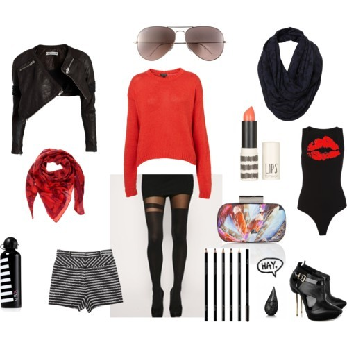 red sweater by monmaransi featuring cotton sweaters