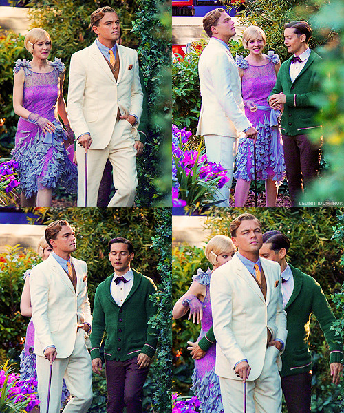 fuckyeahdicaprio:  brasswithclass:   On the set of The Great Gatsby, November 18th   MY EMOTIONS.   HE LOOKS SO HANDSOME. I AM DEAD. yummy