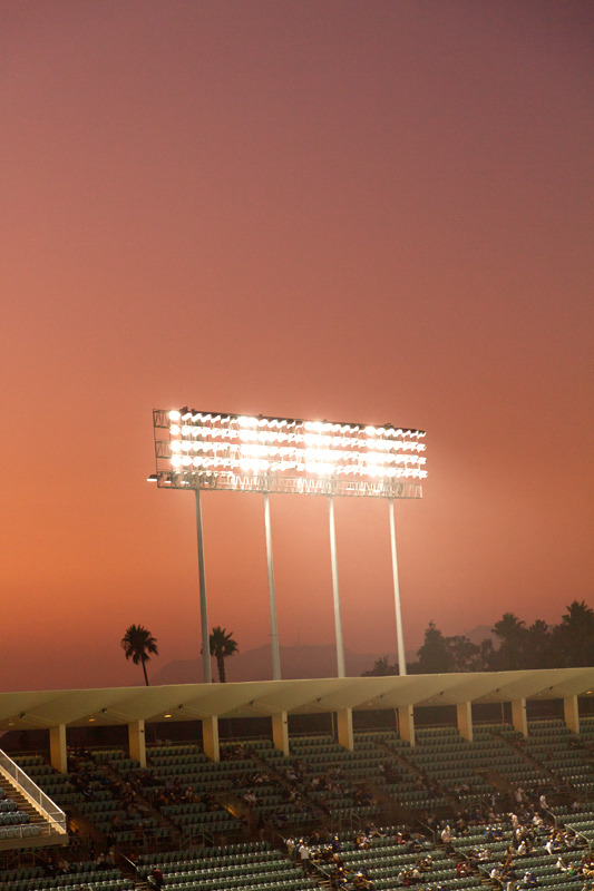 samuelchristopher:    Los AngelesBy Samuel Christopher the Dodgers stadium in September during the Dodgers vs Giants game.