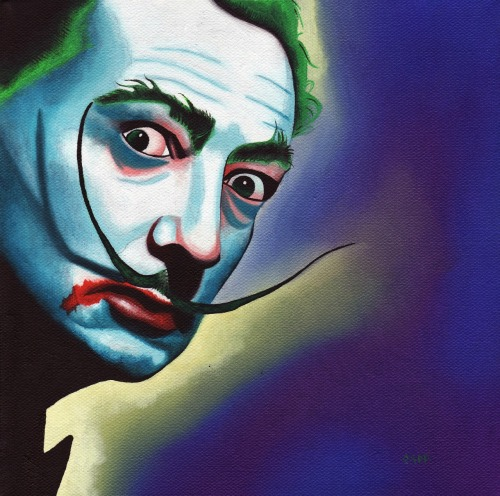 laughingsquid:  Salvador Dali & His Surrealist Artwork Get a Batman & Joker Makeover