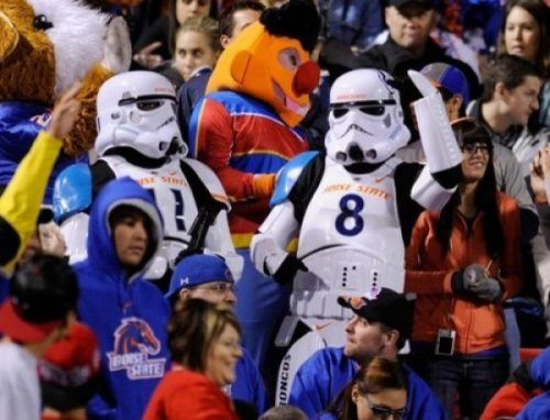 Boise State Stormtroopers Vader is going to FREAK when he sees these on Facebook.