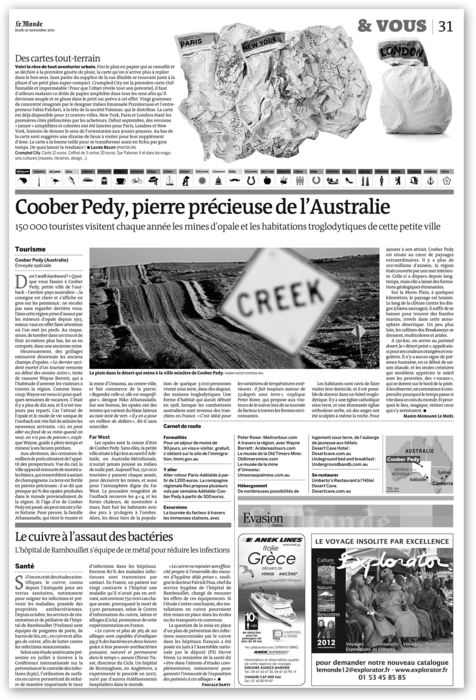 Crumpled City on Le Monde