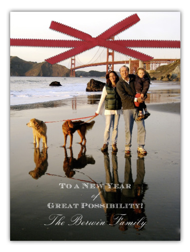 Future Alana loves this christmas card - a family, two dogs - ON THE BEACH //via paperless post