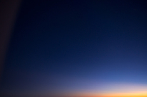 Morning sunrise gradient from plane @ Tenochtitlan, the bellies world.