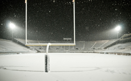 Getting excited for Cat/Griz yet? Last night the Bobcat Stadium turned on the lights to capture a beautiful snowy Bozeman, Montana evening!Photo was taken by Kelly Gorham. More information on the lights at the stadium can be found here:http://www.montana.edu/cpa/news/nwview.php?article=10490