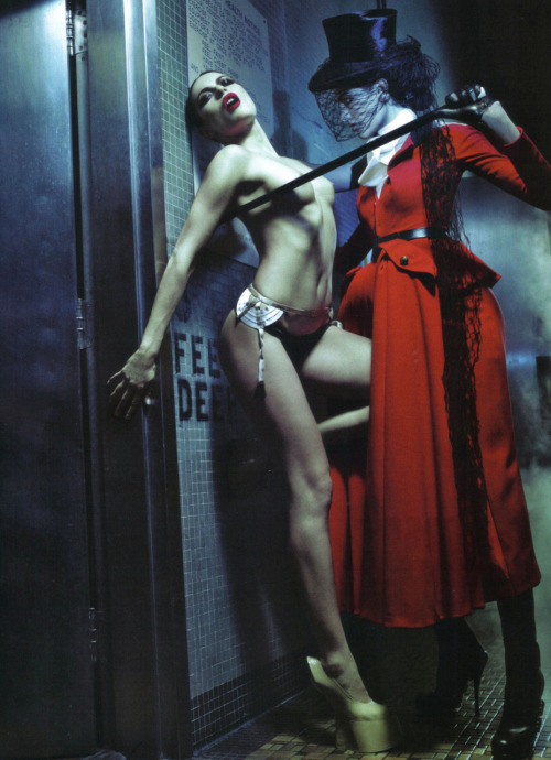 Rie Rasmussen and Dafne Cejas in 'Rie' Photographer: Steven Klein Clothes,hat and boots: Christian Dior Haute Couture S/S 2010 Vogue Italia March 2010