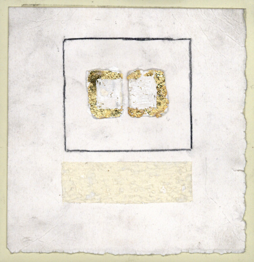 Untitled [The Wrocław Drawings] / gold leaf, graphite on paper / 5 x 5 inches / 2011
