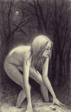 Forest Noir Graphite on moleskine by Soey Milk