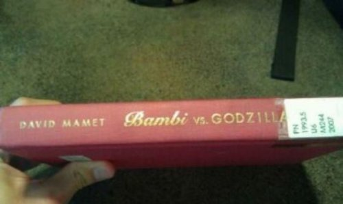 Bambi vs Godzilla Library Book   It's 75 pages of magnificently illustrated fight sequences.